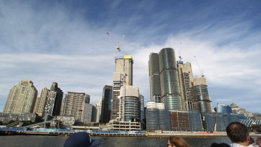 """Sydney's Barangaroo development is the site of James Packer's new """"VIP gaming facility""""."""