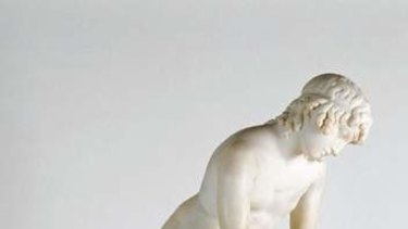 The statue of Narcissus.