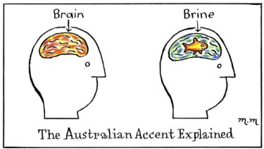 Accent cartoon.