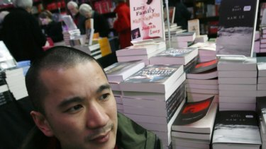 Melbourne author Nam Le at Federation Square.