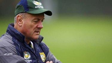 Under pressure ... Kangaroos coach Tim Sheens.