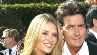 Paid to stay ... Charlie Sheen and Brooke Mueller.