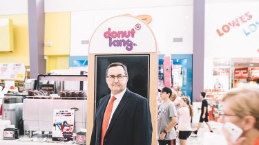 Retail Food Group founder and businessman Murray d'Almeida at a Donut King outlet in Queensland this week.