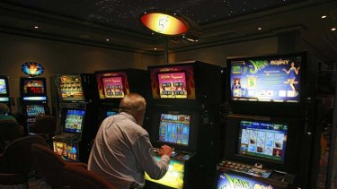 Money-spinner  ...  thousands of people spend their evenings transfixed on, and losing on, the pokie machines at clubs across NSW.