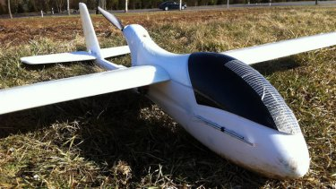 In this March 1, 2012 photo released by ConservationDrones.org., a drone developed by the Swiss Federal Institute of Technology and partner Serge Wich is shown in Zurich, Switzerland.