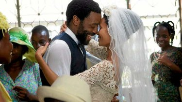 Chiwetel Ejiofor and Thandie Newton in Biyi Bandele's Nigeria-set film <i>Half of a Yellow Sun</i>.