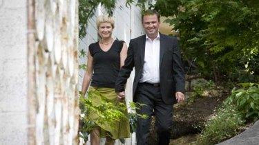 Former Tasmanian premier David Bartlett with wife Larissa.