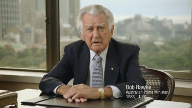 "Former PM Bob Hawke appeared in the most prominent of Labor's ""Mediscare"" ads."