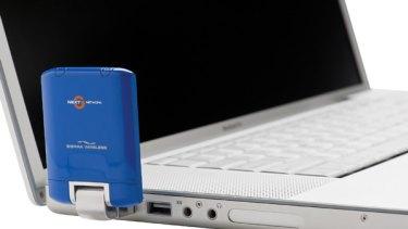 Telstra's new Sierra Wireless USB dongle.