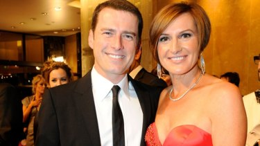 Karl Stefanovic with Cassandra Thorburn at the 2011 TV Week Logie Awards.