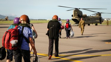 The Australian Defence Force aircraft on hand to assist with the ex-tropical Cyclone Debbie's clean-up.