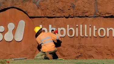 Upbeat ... BHP has increased its iron ore guidance for the second time this year.