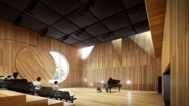 The conservatorium will include a 443-seat auditorium.