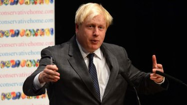 Forging a bond: London mayor Boris Johnson wants Britain and Australia to strengthen their ties.