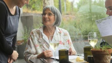 Betty Churcher at lunch.