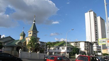 A developer wants to build a 20-storey apartment complex next to this 87-year-old church in Woolloongabba.