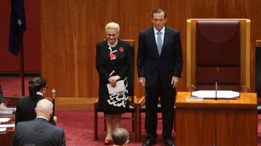 The swearing-in of Peter Cosgrove. Photo: Andrew Meares
