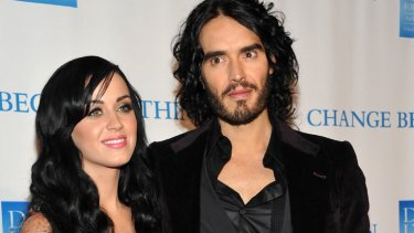 Deported ... Russell Brand with wife Katy Perry.