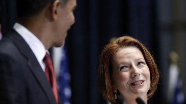 US President Barack Obama and Australian Prime Minister Julia Gillard. AFP