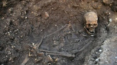 Remains found under a car park in Leicester in 2012 believed to be those of Richard III.