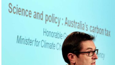Fact check fail ... the Climate Change Department is relying on unsubstantiated data. Above, Greg Combet.