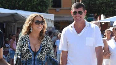 Mariah Carey And James Packer in Portofino in June after going public with their relationship.