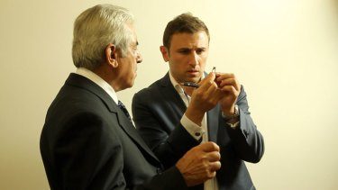Gus Hashem (right) has transformed his father Simon's (left) jewellery business.