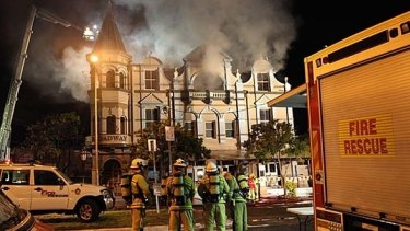 The Broadway Hotel went up in flames in July 2010.