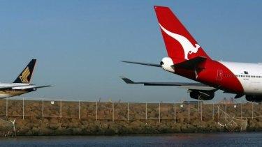 Qantas passengers were evacuated at Sydney Airport.
