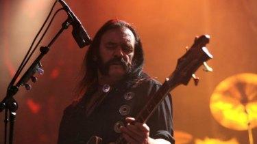 Lemmy, lead singer of Motorhead, delights the faithful in Melbourne in 2007.