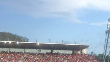 The Wanderers' 'active supporters' bay was empty during Sunday's match as supporters protested against the FFA's treatment of fans.