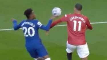 VAR rules in favour of Chelsea over a potential handball from Callum Hudson-Odoi
