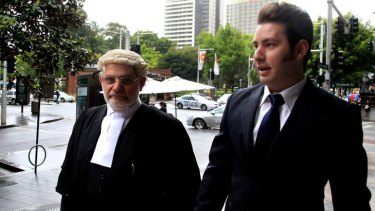 John Busuttil (right), photographed with his barrister father Joe, has spent about $60,000 to get off a speeding fine.