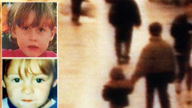 An image etched in Britain's national psyche ...  the CCTV picture of James Bulger, left,  being  led away by his killers  triggered outrage. There was no such outcry in the case of Silje Redergard, top left.
