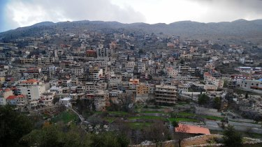 The town of Shebaa in southern Lebanon, home to 8000 Syrian refugees.