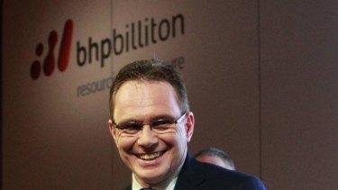 All smiles: BHP Billiton chief executive Andrew Mackenzie.