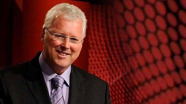 Host Tony Jones on ABC's <em>Q&A</em>.