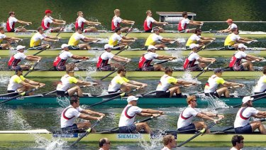 Unhappy...five leading rowing nations have met in Switzerland to express anger at the change of transport arrangements for the London Olympics.