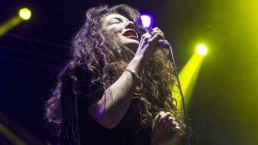 Chart success: Kiwi-born Lorde rivals Miley Cyrus and Katy Perry.