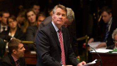 Defensive: Deputy Premier Andrew Stoner.