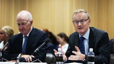 Outgoing RBA Governor Glenn Stevens (left) leaves his deputy and successor Philip Lowe (right) with very low inflation and limited policy ammunition to combat it.