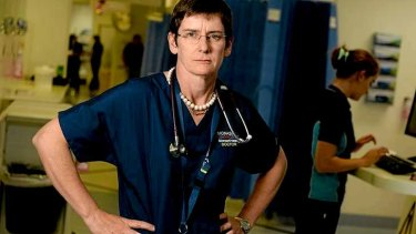 Dr Diana Egerton-Warburton is fed up with the high number of drunk people filling emergency departments.