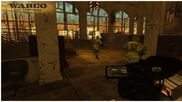 A grab from Warco - can a shooter game survive without giving players the ability to shoot stuff?