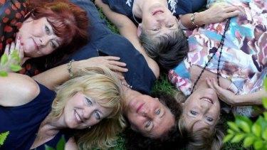 Group effort: (Clockwise from top left) Jenny Crocker, Madeline Oliver, Denise Tart, Jane St Vincent Welch and Jane Richards have written a book together in Sydney.