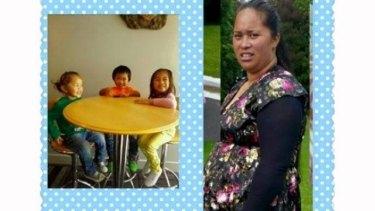 Cindy George and her children, Teuruaa, Telyzshaun and Pio.