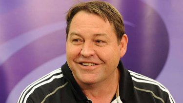 New Zealand assistant coach Steve Hansen at today's media conference.
