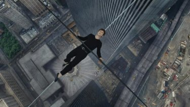 Joseph Gordon-Levitt plays Philippe Petit, who walked on a tightrope between the Twin Towers in New York.
