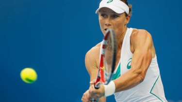 Straight-sets victory: Samantha Stosur.