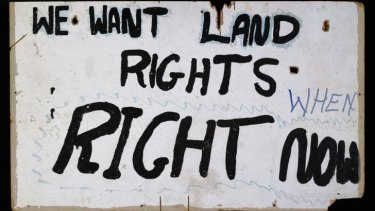 A 1972 placard from the Aboriginal Tent Embassy.
