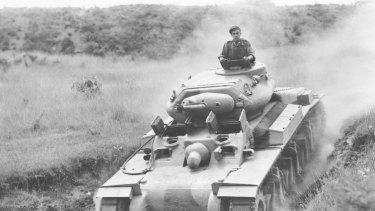 A prototype Australian AC1 Sentinel Cruiser Tank Mark 1.